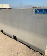 Barreras prefabricadas de hormigón – Ecomundo Prefabricados