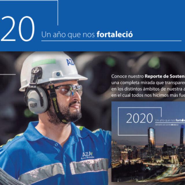 ACEROS AZA PRESENTA SU REPORTE DE  Sostenibilidad 2020