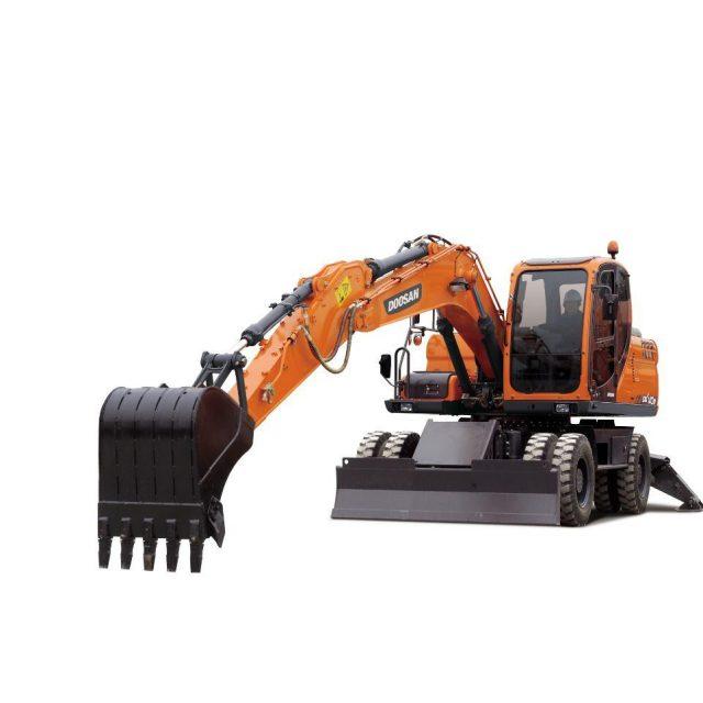 Excavadora sobre neumáticos DX140W  / Doosan