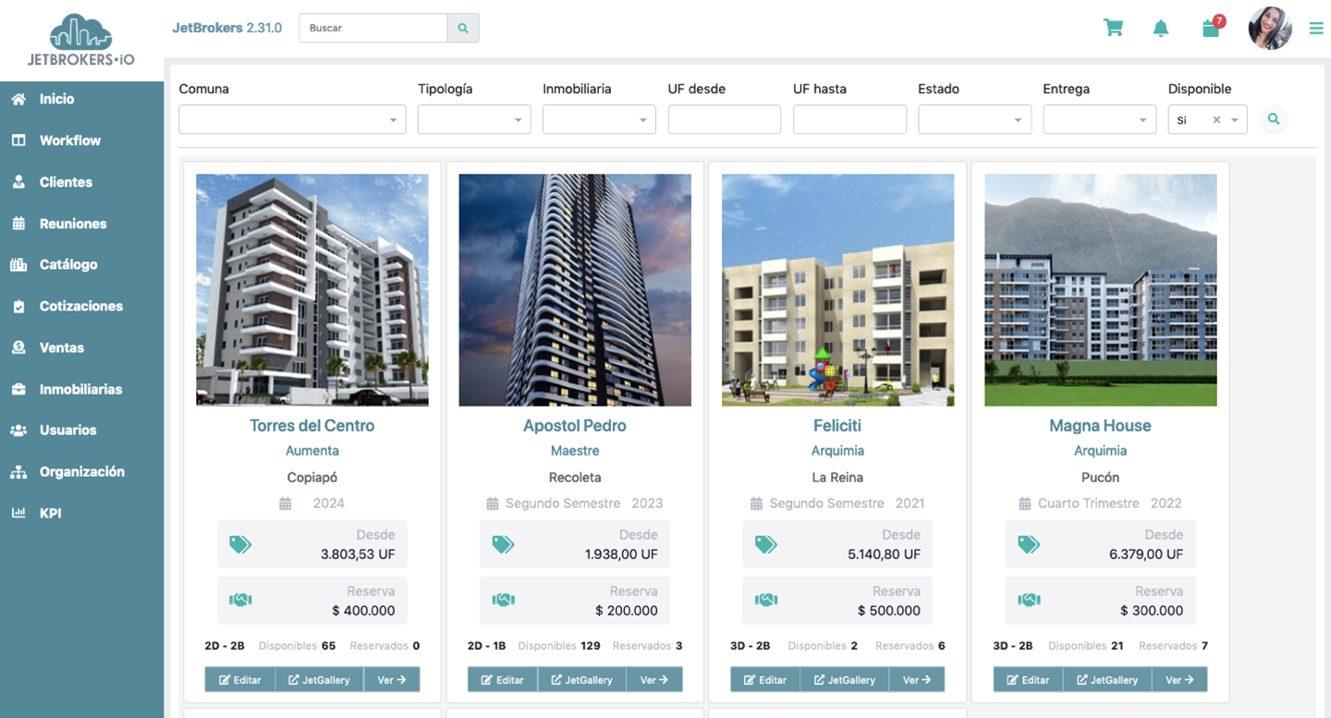 Plataforma de gestión de ventas inmobiliarias | JetBrokers